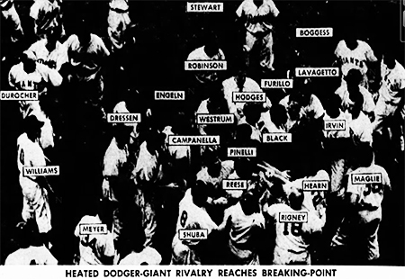 Dodgers vs Giants Fight