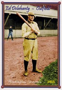 Ed Delahanty Baseball Card