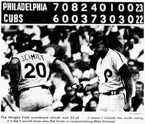 Phillies vs Cubs May 17, 1979 Newspaper