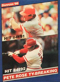 Pete Rose 1986 Donruss Baseball Card